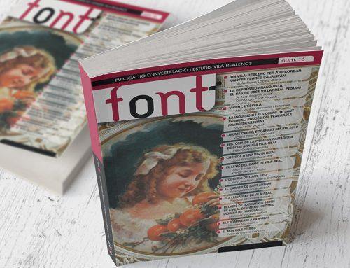 Diseño de la revista Font 16 (2014)