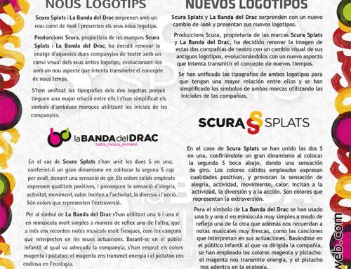 Nuevos logotipos de Scura Splats y La Banda del Drac