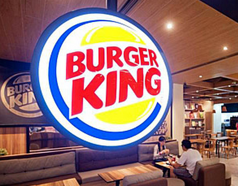 Burger King rótulo