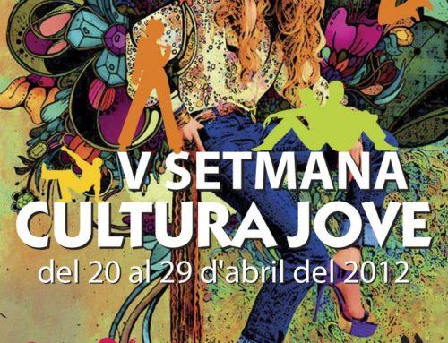 """Diseño del cartel de la """"V Setmana de la Cultura Jove"""" de Nules"""