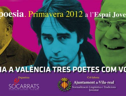 Diseño del flyer del ciclo de poesía de Vila-real