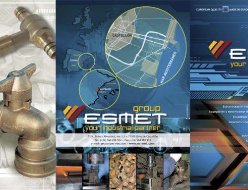 Diseño e impresión del tríptico de ES-MET.