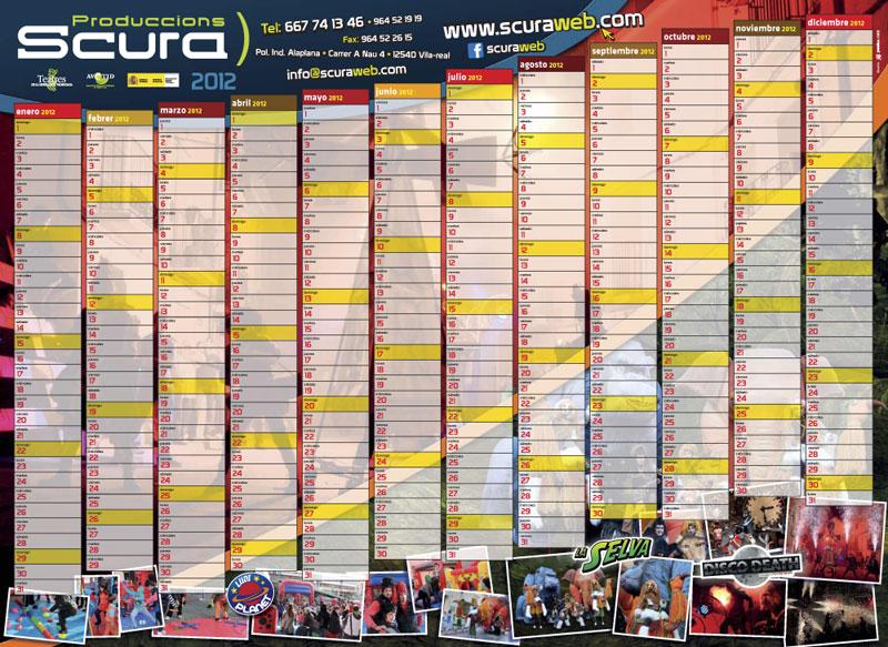 calendario Scura 2012