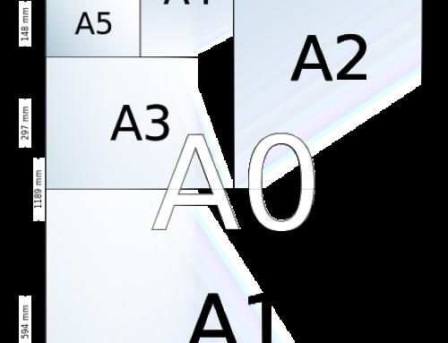 Las medidas estándar DIN A