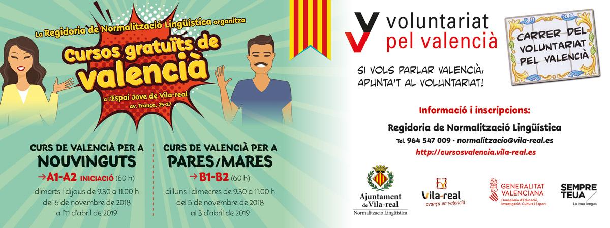 Cursos gratuïts de valencià