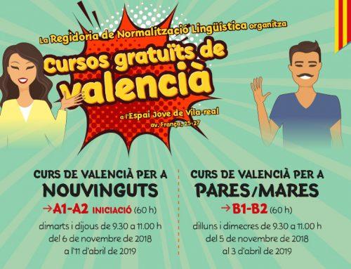 Diseño y realización de la publicidad «Cursos gratuïts de valencià»