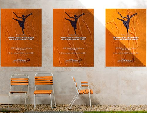 Cartel para la mesa redonda «Enseñanzas artísticas: un planteamiento común»