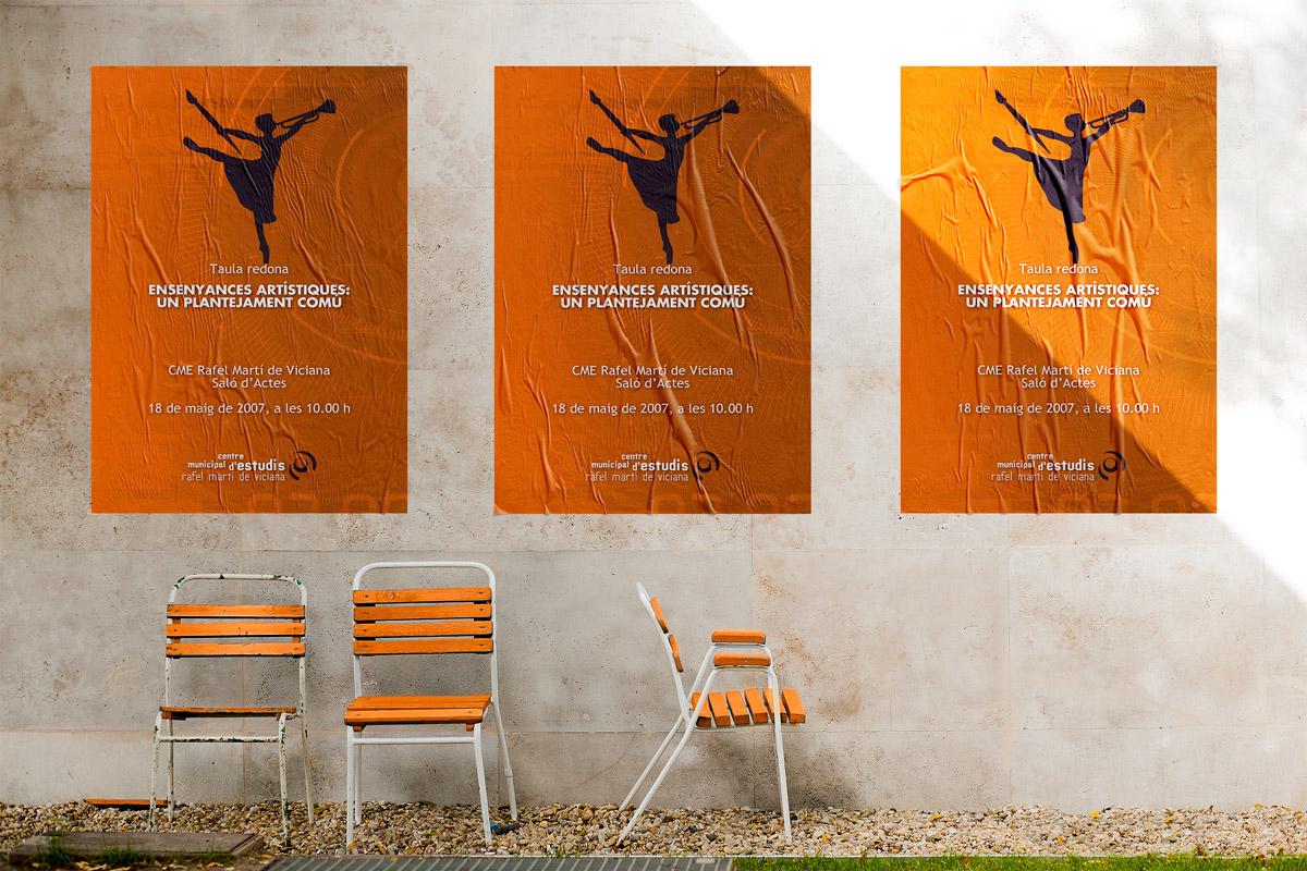 Diseño del cartel para la mesa redonda «Enseñanzas artísticas: un planteamiento común»