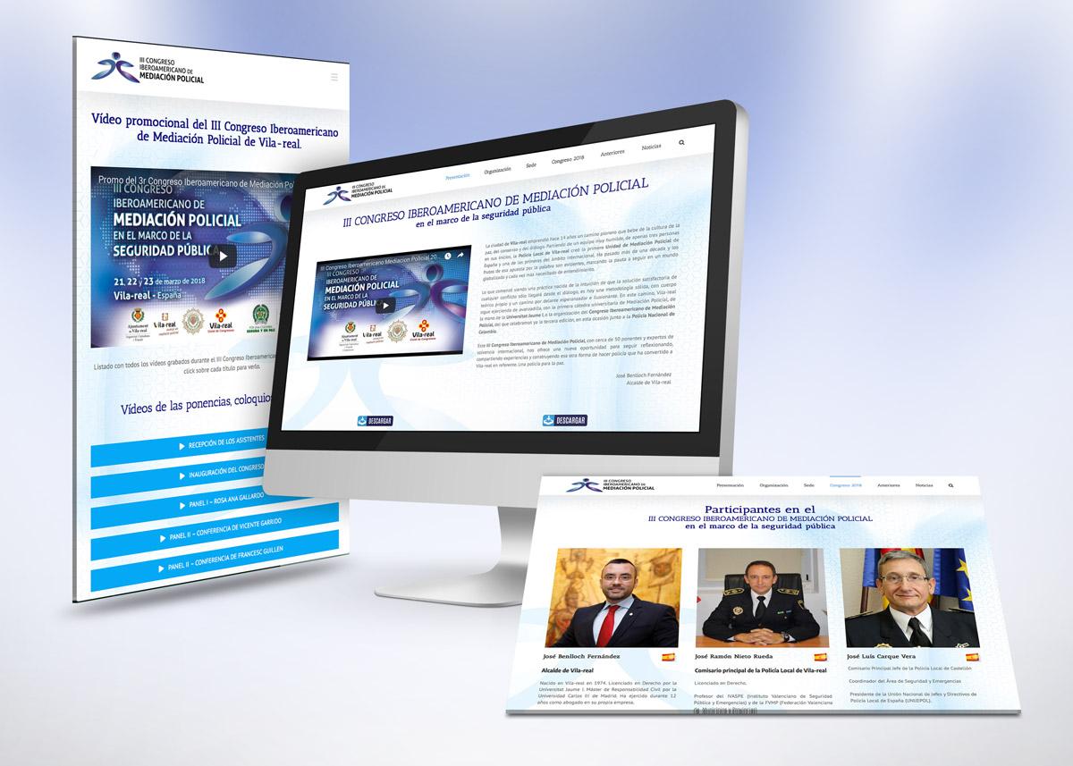 Diseño de la web del III Congreso Iberoamericano de Mediación Policial
