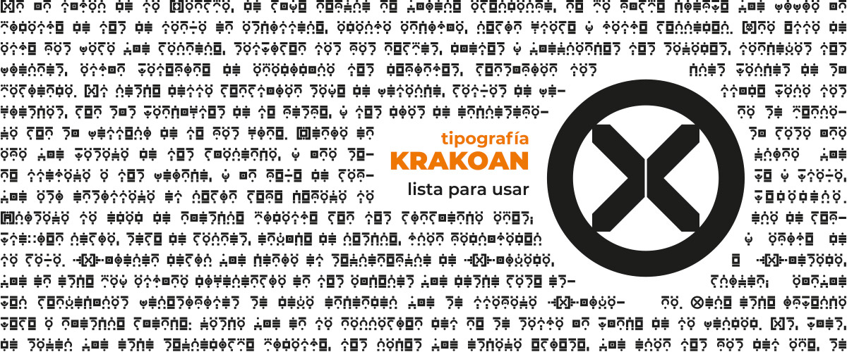 tipografía Krakoan