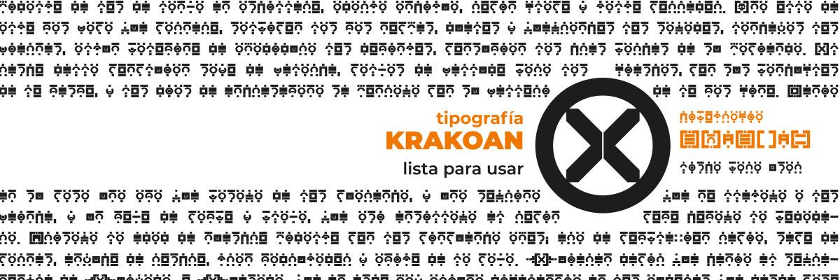 Krakoan tipografía