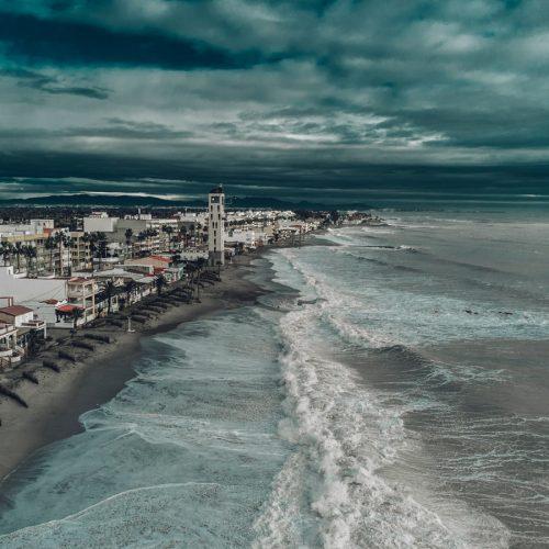 Tormenta en la playa de Nules